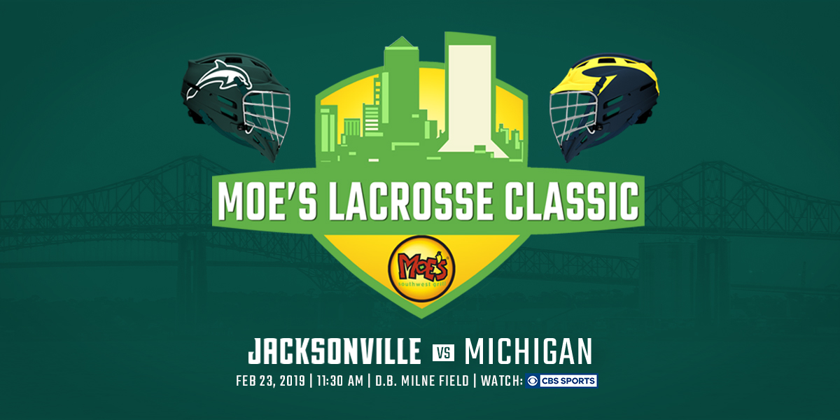 The Moe's Lacrosse Classic is Saturday, February 23, at 11:30 a.m. Get tickets or watch on CBS Sports.