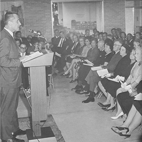 The dedication of Williams Hall in 1966.