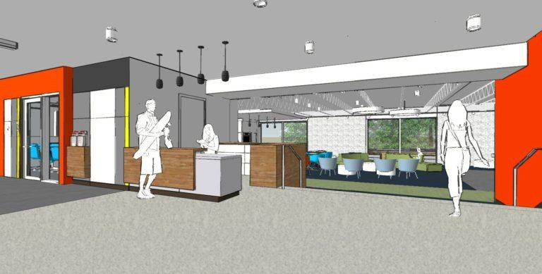 A new, welcoming lobby an common area will be barely recognizable to Williams alumni.