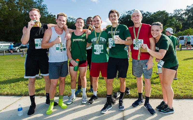 A group of runners after completing River House Run
