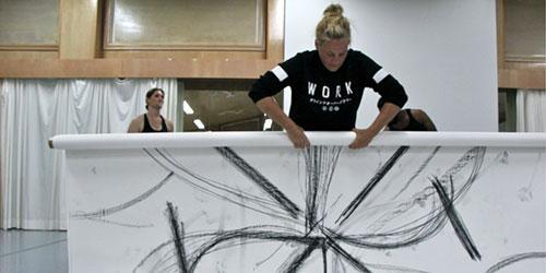 Guest artist Heather Hansen after workshop.