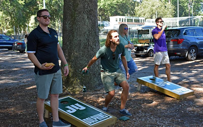 Cornhole Tournament at Homecoming