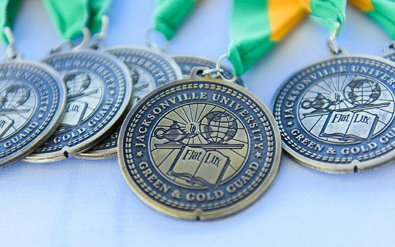 Green and Gold Guard Medallions