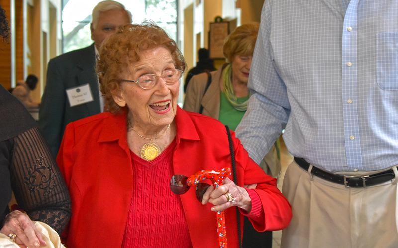 Dr. Fran Kinne at the 2019 Green Key Induction
