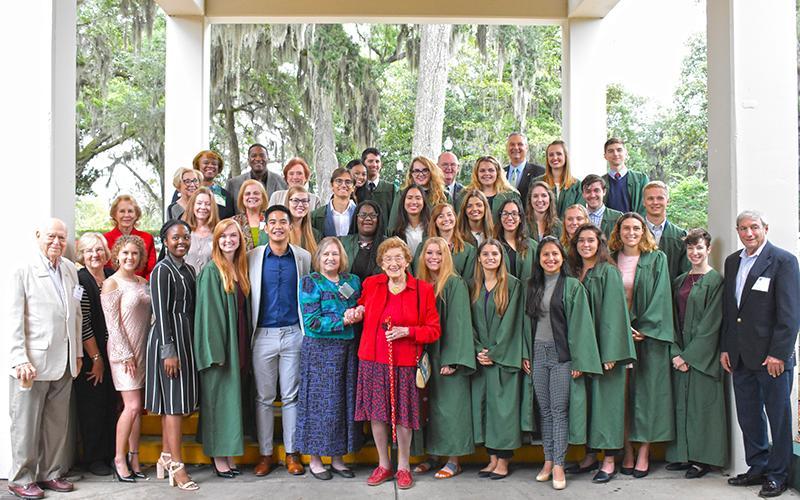 Green Key students and alumni at Kinne University Center