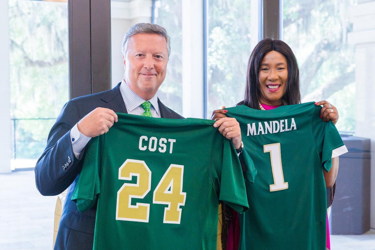 Dr. Makaziwe Mandela & President Tim Cost