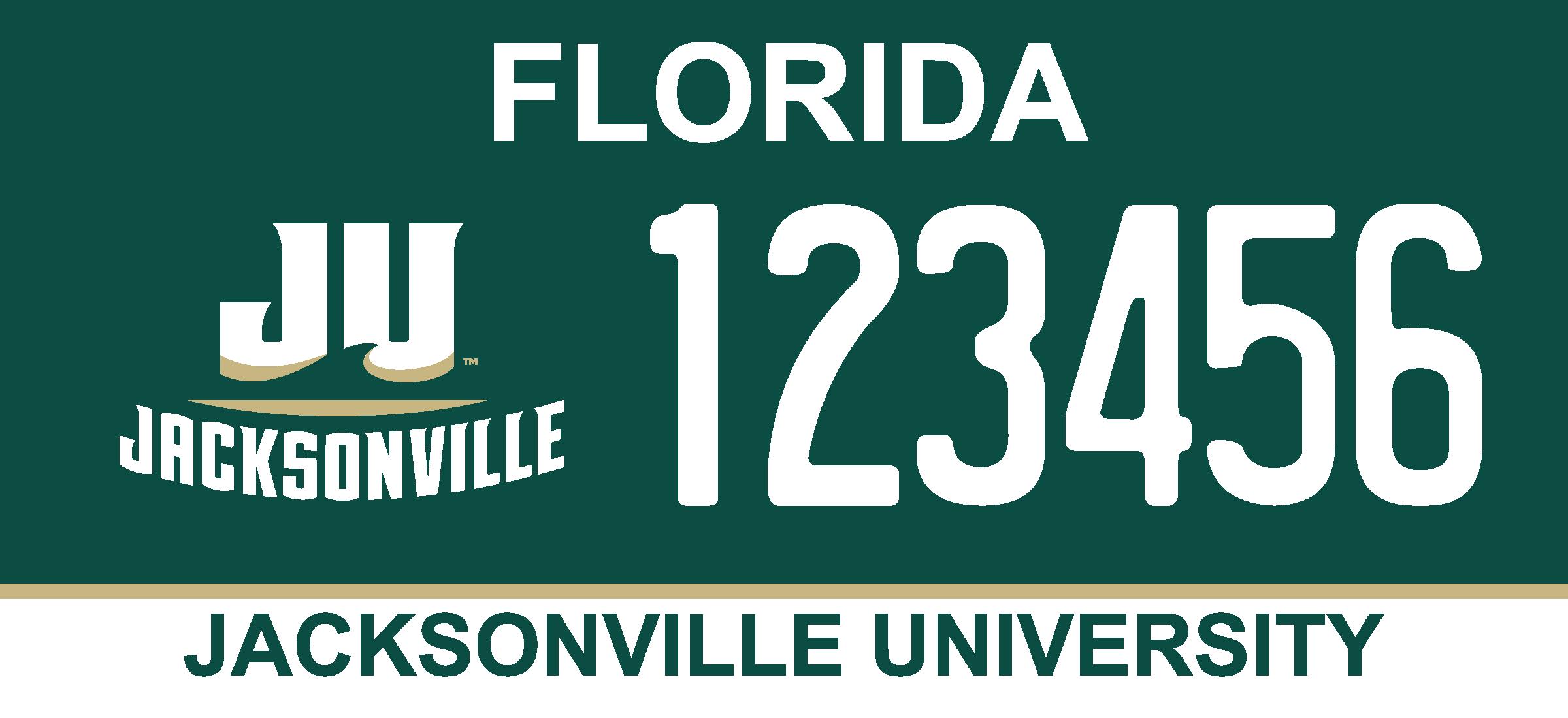 License Plates | Jacksonville University in Jacksonville, Fla