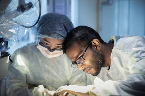 Photograph of a doctor and nurse performing a surgical procedure at Mayo Clinic, Jacksonville