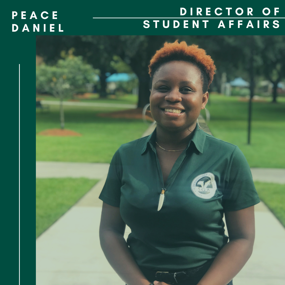 Peace Daniel SGA Director of Student Affairs