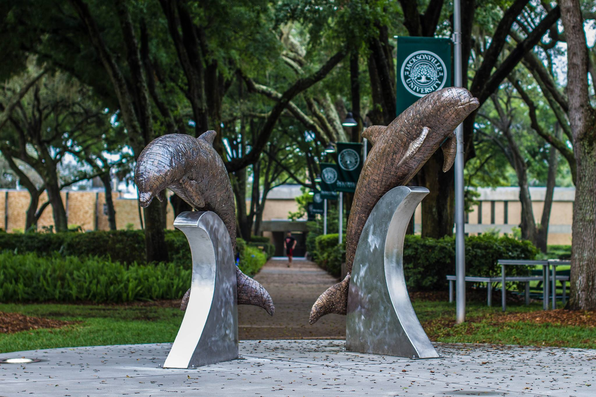 JU Dolphin Sculpture