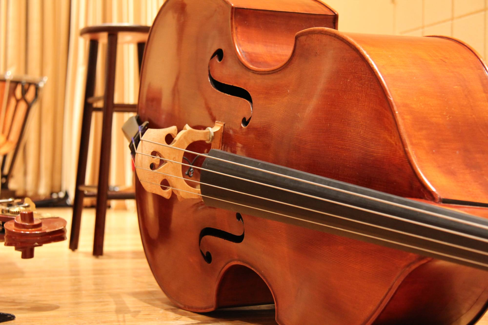 Upright Bass on Terry Concert Hall Stage