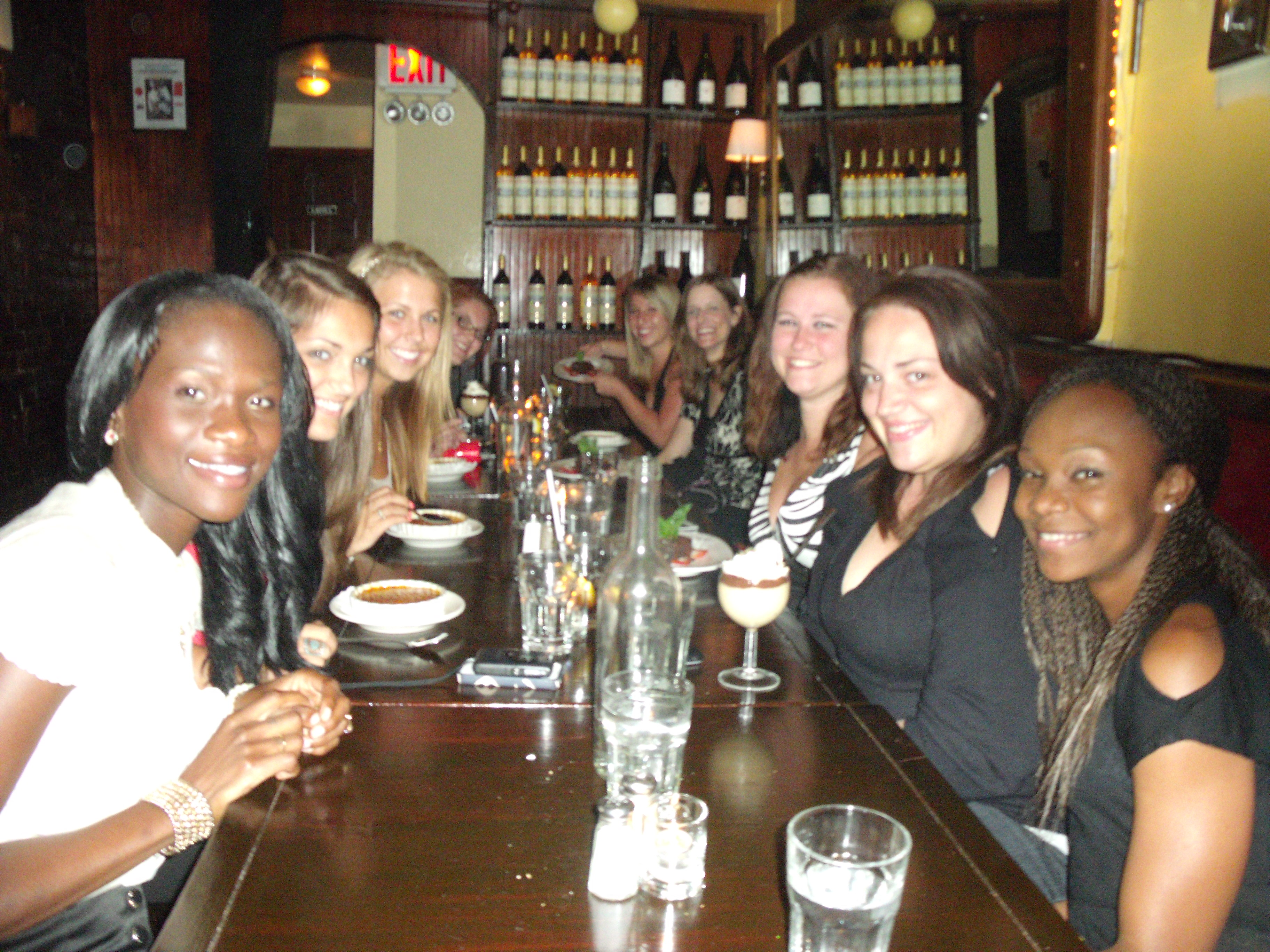 A group shot at dinner in New York.