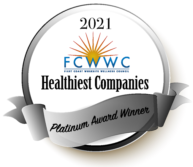 First Coast Worksite Wellness Council Healthiest Companies Platinum Award Winner