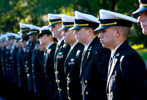 NROTC participants in formation