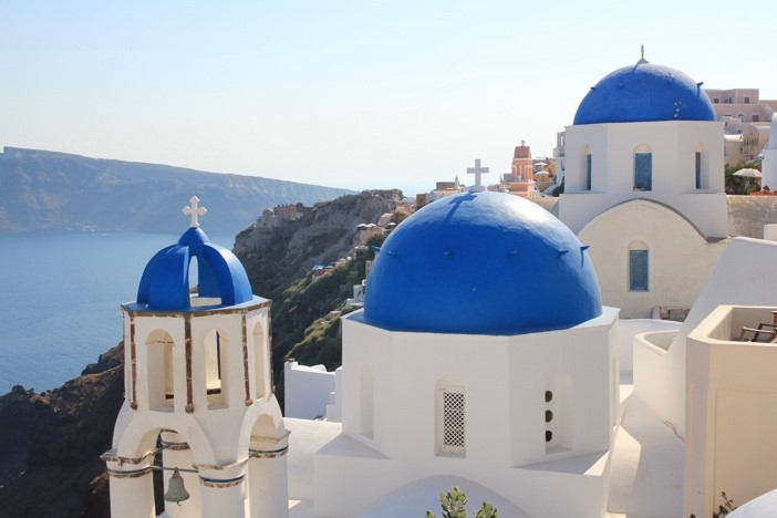 Buildings in Santorini