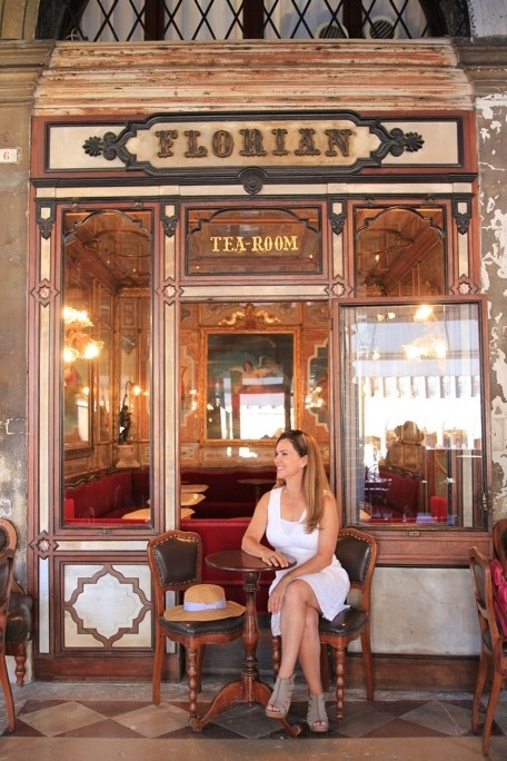 Dr. Annmarie Willette at the Florian coffee shop