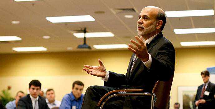 A past event with Federal Reserve Chairman Ben Bernanke -- click through for information about some of our past events