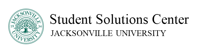 JU seal and the nameplate of the Student Solutions Center